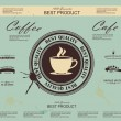 Retro Vintage Coffee Background with Typography — Imagens vectoriais em stock