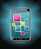 Smartphone à écran tactile — Vecteur