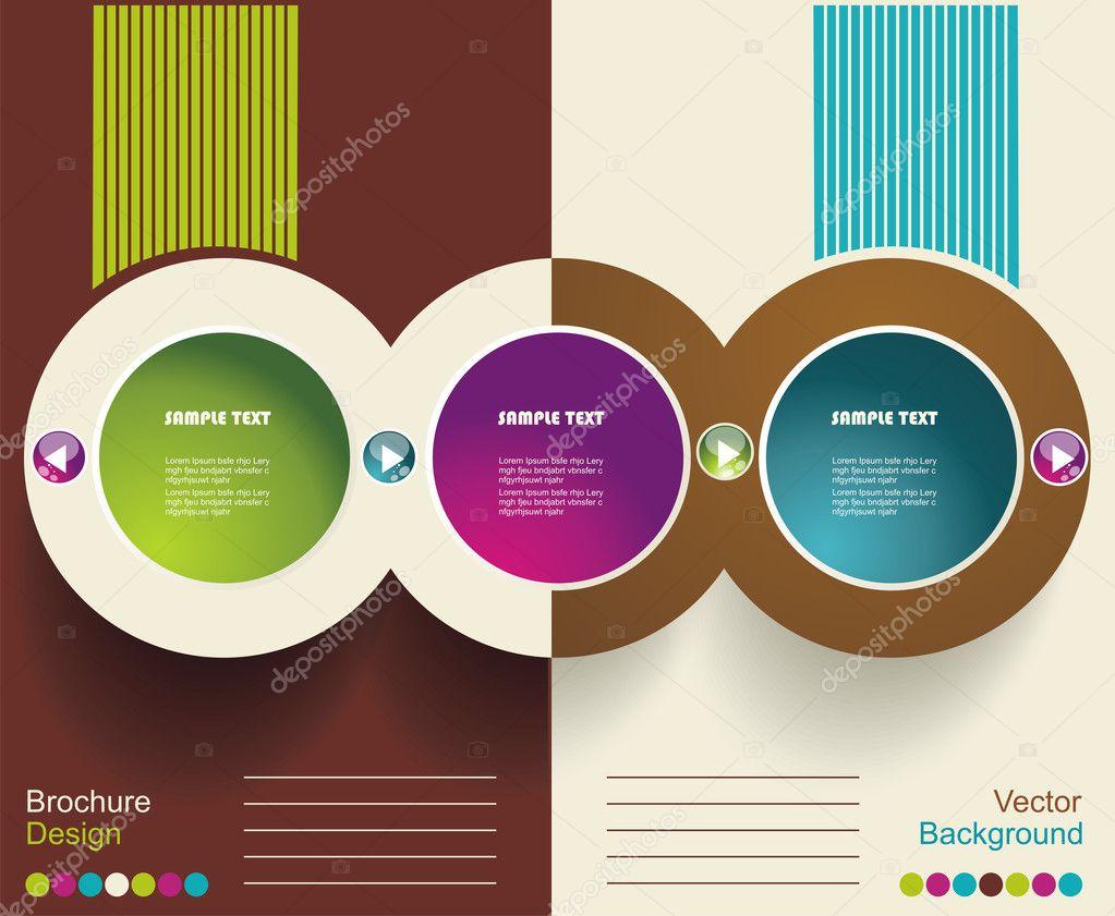 Vector Brochure Layout Design Template — Stock Vector