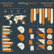 conjunto retrô infográficos — Vetorial Stock