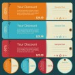 Stock Vector: Vintage discounts template set