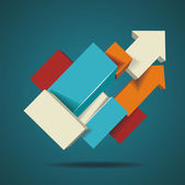 Abstract distortion from arrow shape background — Stock Vector