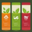 Vector de stock : Bio concept design eco banners