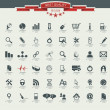 Quality icon Set (Service, Medical, Media, Mail, Mobile, ,Web , — Vector de stock
