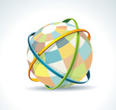 Abstract globe symbol internet and social network concept. — Stock Vector