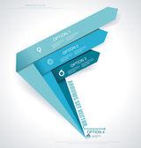 Set vector arrows. Minimal infographics. — Stock Vector