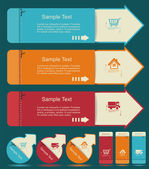 Vintage Labels template set. Sale, discount theme. Retro logo te — Stock Vector