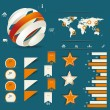 Retro infographics set. — Vector de stock