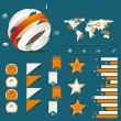 Набор ретро Инфографика — Cтоковый вектор