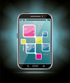 Smartphone touchscreen — Vettoriale Stock