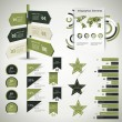 Infographic design template with paper tags — Imagen vectorial