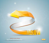 Gold Arrow. Vector Symbol. — Stock Vector