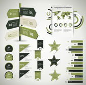 Infographic design template with paper tags — Stock Vector