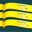 Vector bright yellow banners or ribbons set — Stok Vektör
