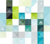 Modernes design-vorlage. einsetzbar für infografiken, c nummeriert — Stockvektor