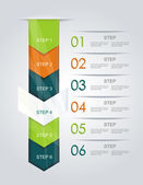 Modern Design Minimal style infographic template.Can be used for — Stock Vector
