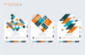 Abstract vector banners set — Stock Vector