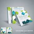 Vector brochure template design with cubes and arrows elements. — Stock Vector #31332077
