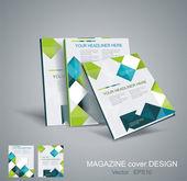 Diseño de plantilla folleto con cubos y flechas los elementos del vector. — Vector de stock