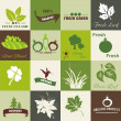 Eco related symbols and icons — Imagen vectorial