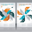 Vector de stock : Vector brochure template design with abstract elements