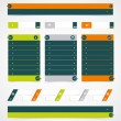 Web site design element. — Imagen vectorial