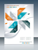 Vector brochure template design with abstract elements. — Stock Vector