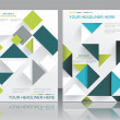 Vector brochure template design with cubes and arrows elements. — Stock Vector