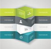 Modern options banner — Stock Vector