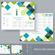 Stock Vector: Vector brochure template design.