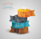 Diagramma modello di puntatori multidirezionali su un cartello — Vettoriale Stock