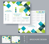 Vector brochure template design. — Stock Vector