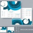 Vector brochure template design with blue elements. — Stock Vector #36539537