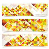 Vector colorful mosaic pattern design — Stock Vector