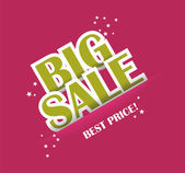 Big sale text with copy space, vector — Stock Vector