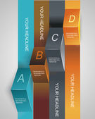 Step by step infographics illustration. levels of your data — Stock Vector