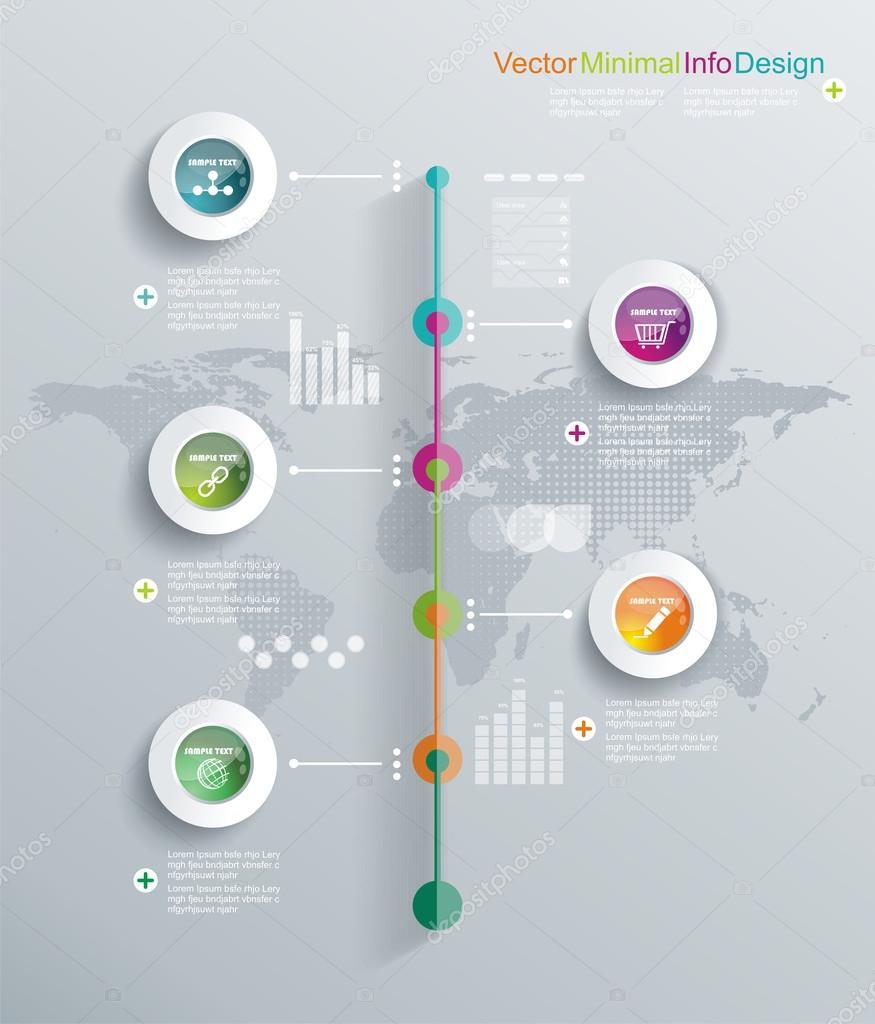 Timeline Icon Infographic