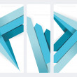 Set of abstract vector paper banners with blue arrows. — Stock Vector