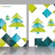 Christmas tree and decorations on winter background. — Vector de stock