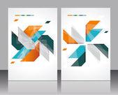 Vector plantilla folleto diseño con elementos abstractos. — Vector de stock