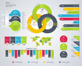 Time Line design template with diagram set. — Stockvector