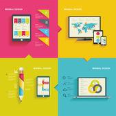 Moderní koncepce infographic nebo webdesign — Stock vektor