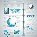 Timeline design template — Stock Vector