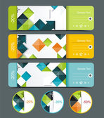 Sale labels template set. — Stock Vector
