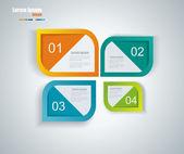 Web ページのデザイン. — ストックベクタ