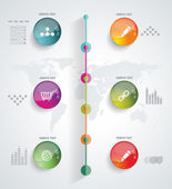 Timeline Infographic. Vector design template. — Stock Vector