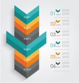Minimal infographics or Step banners template in Arrow style — Stock Vector