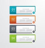用紙番号バナー .trendy デザイン テンプレート — ストックベクタ
