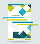 Sistema de navegación de diseño web. — Vector de stock