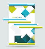 Web navigatie ontwerpset. — Stockvector